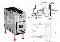 Купить Туристическая походная печка Медиана-5. Переносная мобильная печка для кемпинга, бани, рыбалки, охоты Киев, Украина