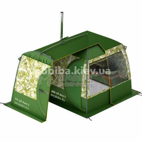 Купить Тент накидной для палатки Мобиба МБ-10А Акв.1 Киев Украина, мобильніе бани палатки.