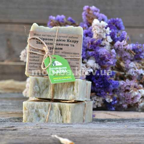 Купить Натуральное мыло ручной работы с эфирным маслом Кедра. Украина доставка Киев. Экологически чистое мыло для бани, сауны, косметических процедур