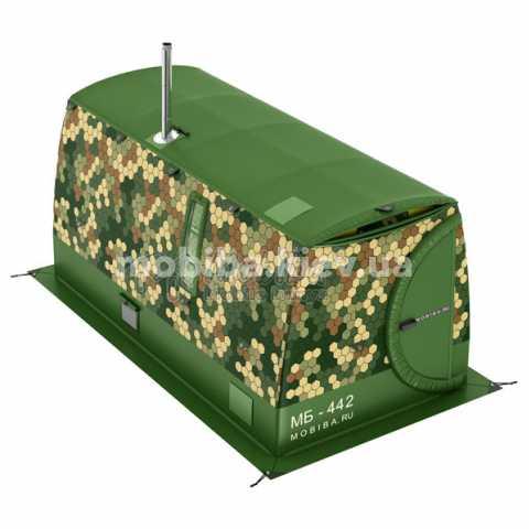 Купить всесезонная Зимняя отапливаемая палатка МОБИБА МБ-442 М2 Киев Украина, мобильные бани палатки.